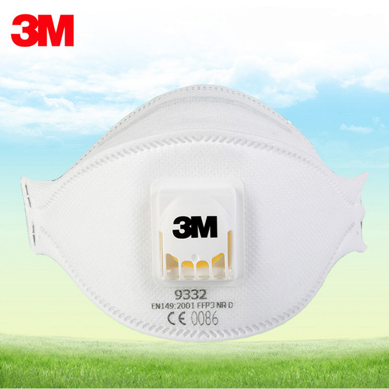 3M 9332 Anti dust-masksPM 2.5mask Anti influenza non woven fabric cool flow welding mask Adult N99/FFP3 Approval safety masks
