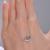 Caimao Joyería 14kt Oro Blanco H SI Diamante Natural Engagement Cadena Colgante