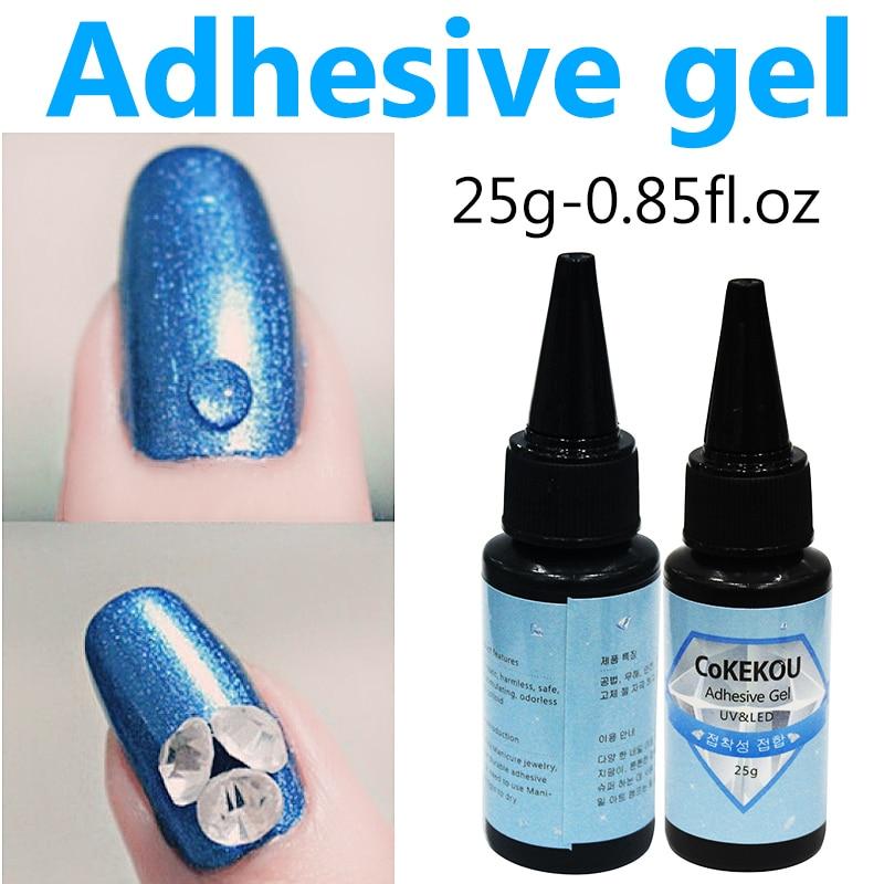 CoKEKOU 25 ml nail art rhinestone Manicura herramienta especial adhesivo de aleación de joyería diamante Mini gel de fototerapia gel UV gel