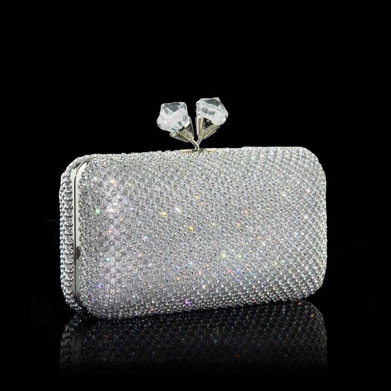 2017 Women  Chain Shoulder Bag Lady Diamond Evening Clutch Crystal Day Clutch Wallet Purse Party Banquet Bolsas Wedding Presents стоимость