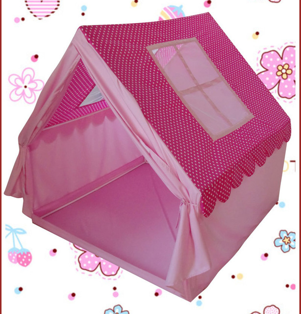 2016 childrenu0027s playground princess big play house pink kids teepee tents for girl / play tents  sc 1 st  AliExpress.com & 2016 childrenu0027s playground princess big play house pink kids ...