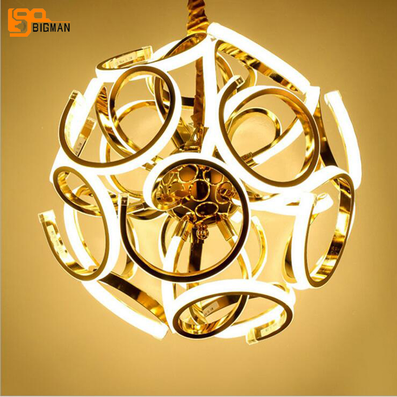 new brief designer chandelier LED hanglamp modern dinning room living room light fixtures AC110V 220V