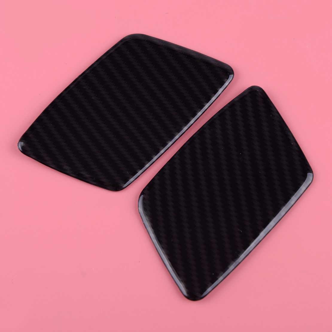 DWCX 2Pcs Car Styling ABS Carbon Fiber Style Front Headlight Washer Spray Cover Fit for Jeep <font><b>Grand</b></font> <font><b>Cherokee</b></font> 2017 2018 <font><b>2019</b></font> image
