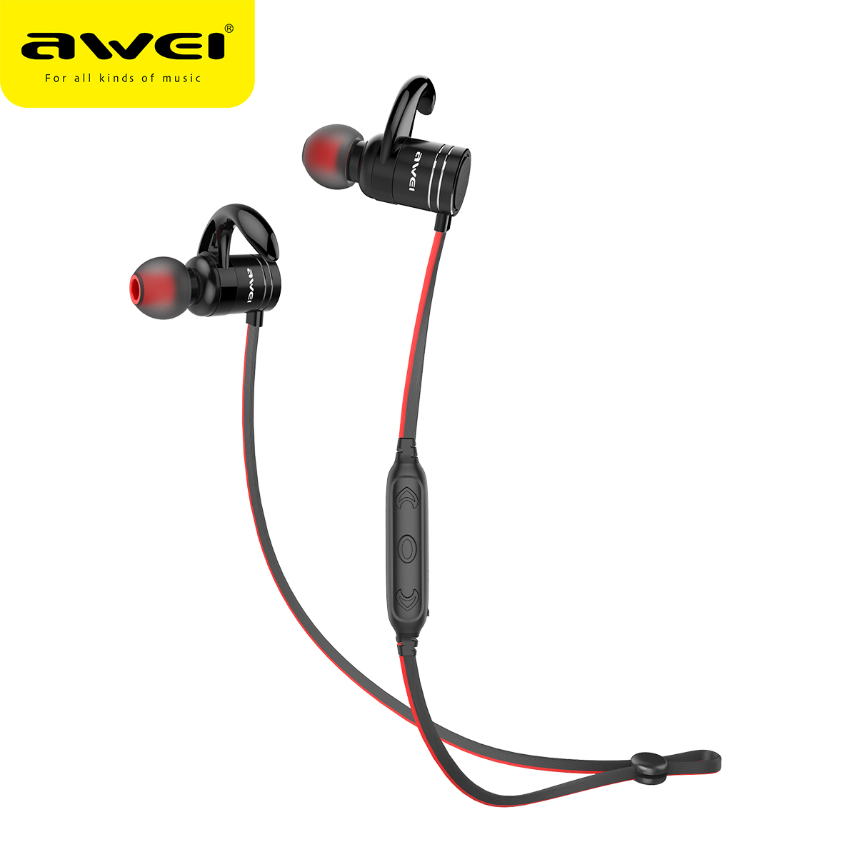 Awei AK7 Wireless Sport Headphone Bluetooth Earphone Megnetic Headphones Headset Stereo hifi sound 10h with microphone awei g20bl bluetooth earphone headphone dual driver headset wireless sport earphone bass sound auriculares inalambrico bluetooth