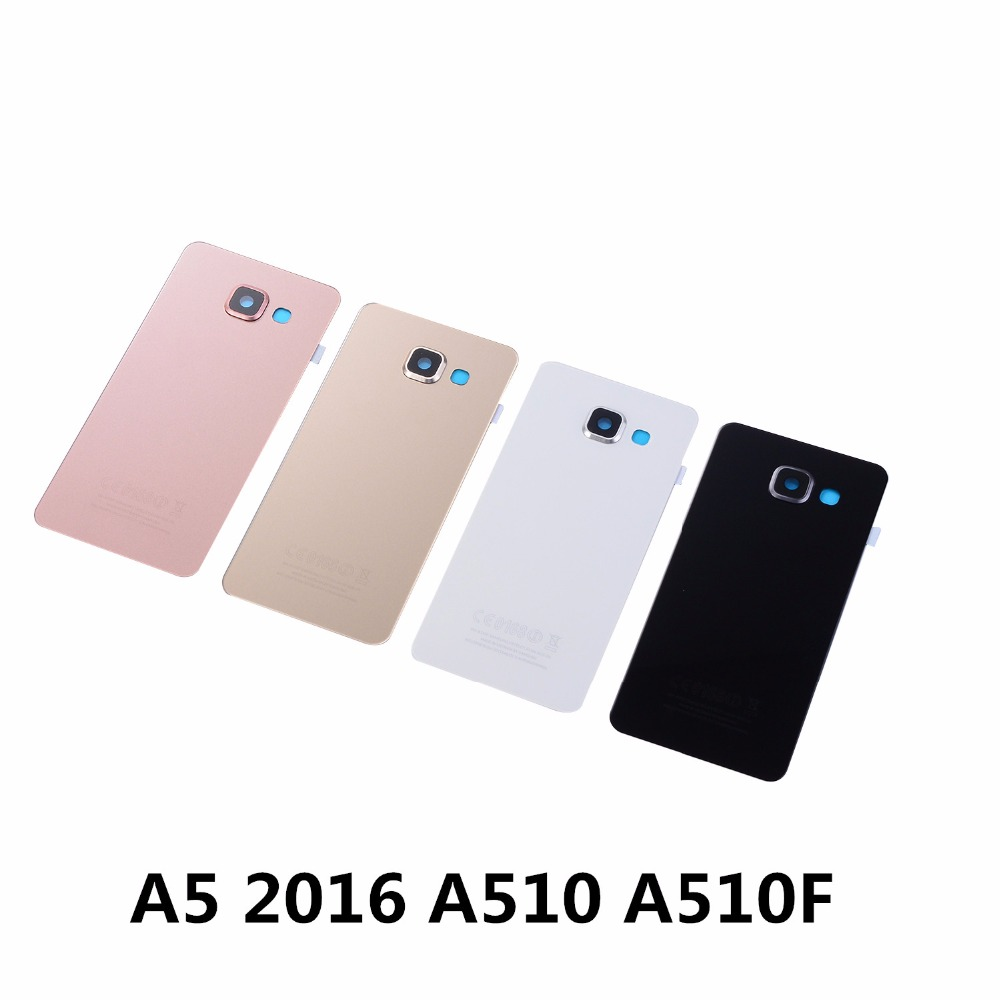 For Samsung Galaxy A5 2016 A510 A510F Housing Rear Cover Battery Glass Cover+Camera Lens Cover+Sticker