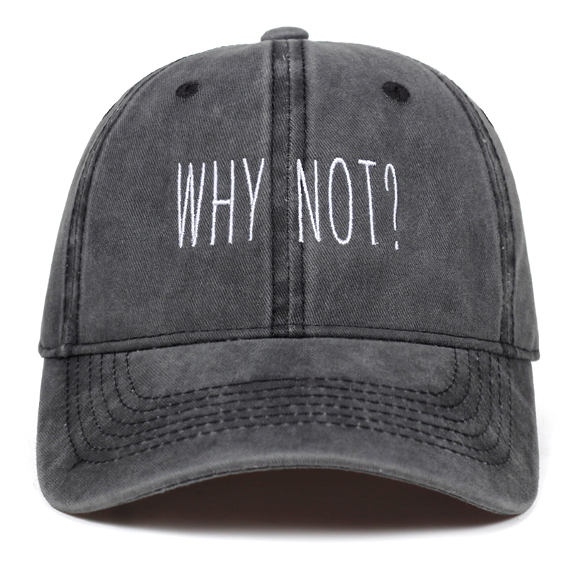 High Quality Cotton WHY NOT embroidery   caps   Adjustable Washed   Baseball     Cap   Unisex Couple Fashion Dad hat hip hop Snapback hats