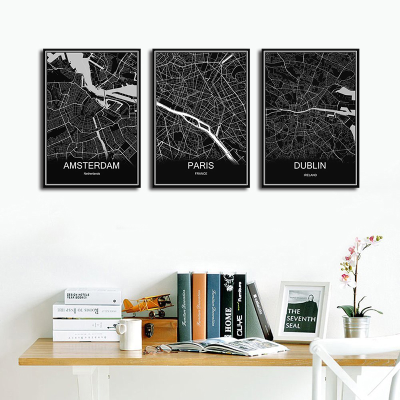 Hot sale sydney abstract print picture world map oil painting hot sale sydney abstract print picture world map oil painting modern city poster canvas coated paper cafe living room decor in wall stickers from home gumiabroncs Images