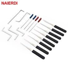 個鍵屋ツール用品ブロークンキーの削除自動抽出セットロックピックハードウェアステンレス鋼 17 ハンドルツール Naierdi