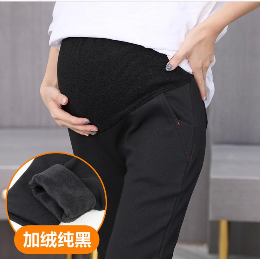 Autumn Winter Maternity Belly Pants Pregnant Women Pregnant Plus Velvet Warm Leggings Pregnancy Clothes Maternity Jeans Trousers
