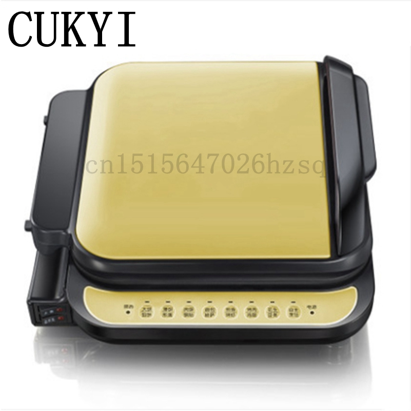 CUKYI 1300W Household double heating Electric Skillet multifunctional non-sticky kitchen helper baking pan cukyi stainless steel 304 liner double layer electric heating lunch box multifunctional household cooking rice steam heating