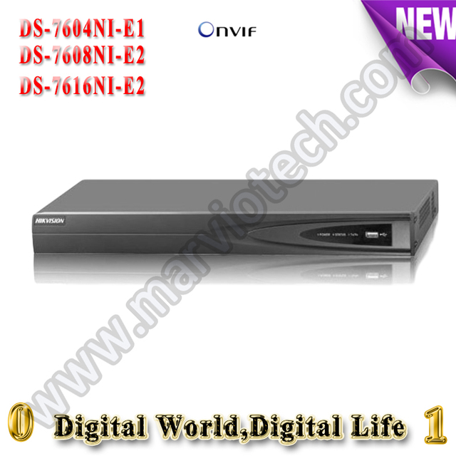 4Ch 8CH 16CH 6MP NVR Embedded linux network video recorder DS-7604NI-E1 DS-7608NI-E2 DS-7616NI-E2 HD 1080P DVR for IP Camera