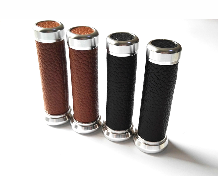 1pair  Vintage  7/8'' Motorcycle Handle Bar CAPS / Handlebar Grips Kit Universal 22MM Street & Racing Motorcycle Grips