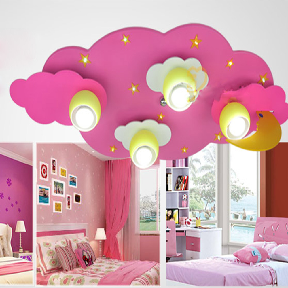 kids ceiling light Acrylic wood led lamp E27 110V 220V american retro style led rainbow light child lighting ceiling rainbow