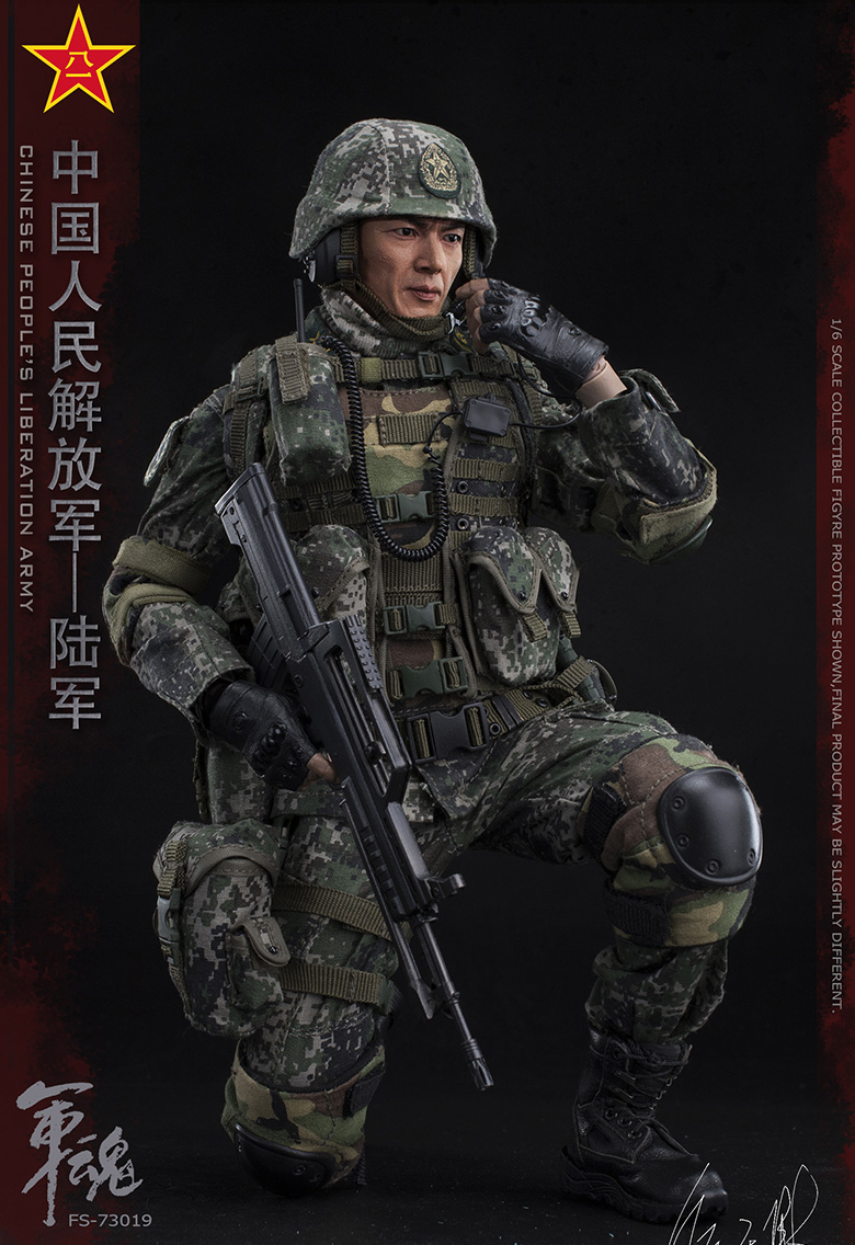1/6 Scale Chiese People's Liberation Army Soul-Series Army Machine Gunner Military Solider Action Figure Full doll collection 2