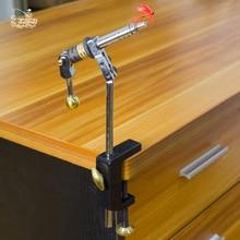 ロータリーフライ結束万力 c クランプ鋼ハードジョー 360 回転テーブルの万力フライ結束ツールキット作るフライ釣りツール副