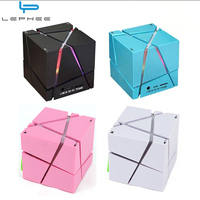 Lephee Portable Magic Cube LED Bluetooth Speaker Wireless Deep Bass Subwoofer For Phone MP3 Computer Music