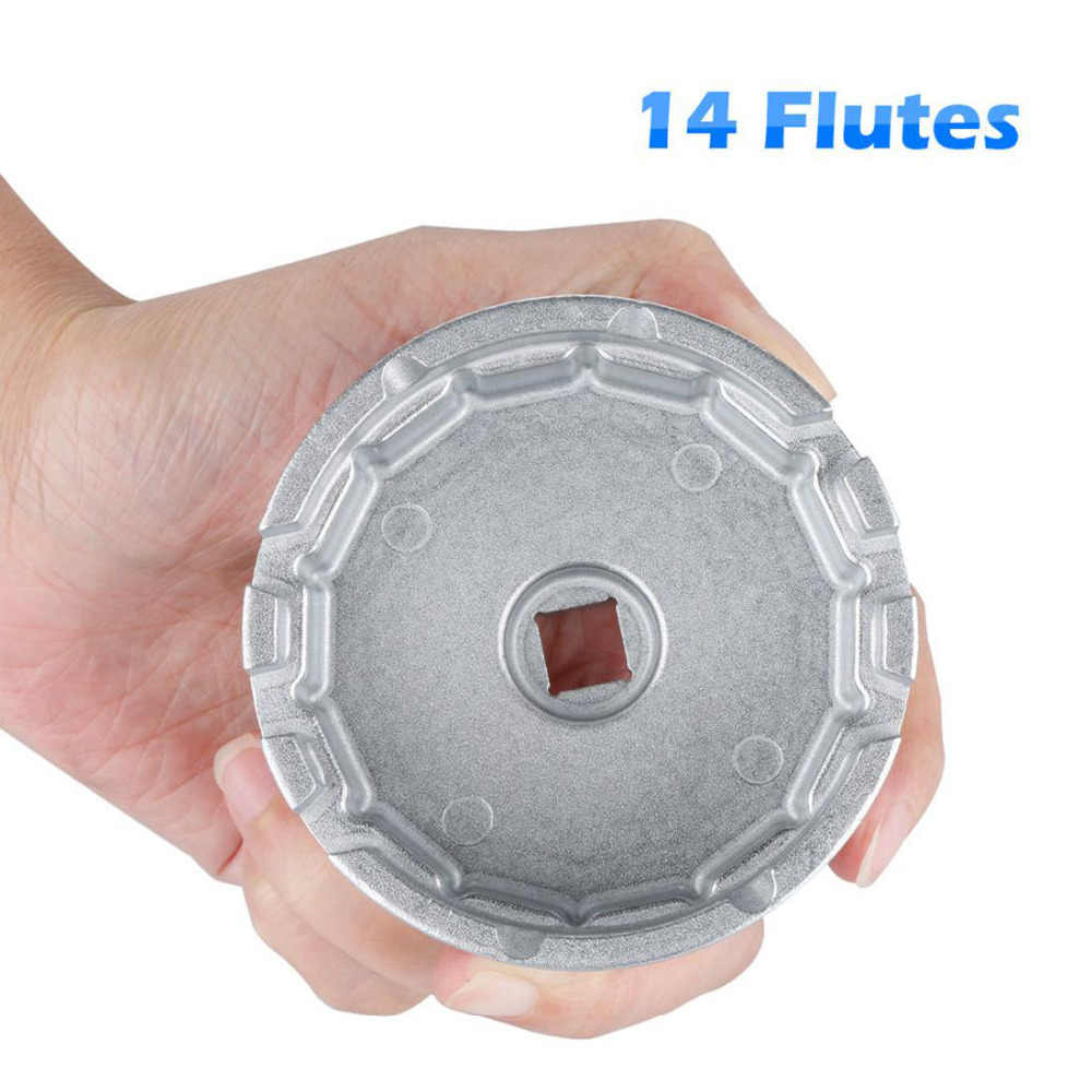 14 Flutes Oil Filter Wrench Cap Housing Tools Fit Camry RAV4 Tacoma Tundra Lexus