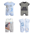 21 Style, New 2017 Summer 100% Cotton Ropa Bebe Newborn Baby Boys Clothing Clothes Creeper Jumpsuit Short Sleeve Romper Baby Boy
