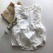 f273d7cec2d6 2019 ins Baby Girls Dots Rompers Sleeveless Toddler Infant Kids Cute White  Color Summer Japanese Korean