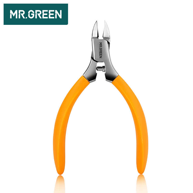 MR.GREEN manicure Tools Professional Stainless Steel Thick Toenails ingrown Cuticle Nipper  Trimmer Plier Scissors Nail Clipper