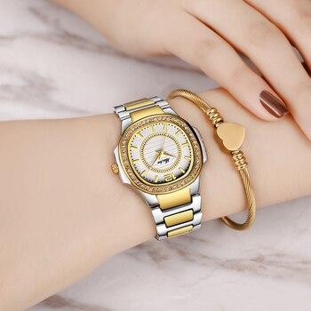 MISSFOX Fashion Designer Ladies 18K Gold Luxury Brand Diamond Women´s Quartz Watches 4