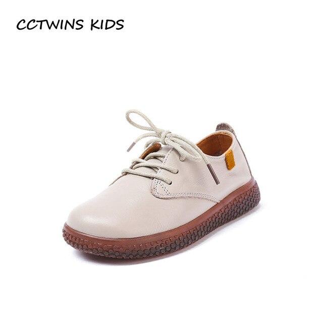 d61145360ee56 CCTWINS ENFANTS 2018 Automne Garçon Véritable Cuir Chaussures Enfants Mode  Casual Chaussures Bébé Fille Marque Doux