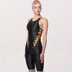Image 3 - Yingfa treinamento profissional competição maiô feminino corrida de secagem rápida anti cloro banho feminino 635