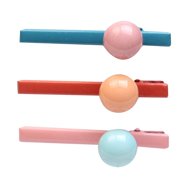 3Pcs Set Child Adult Sweet Candy Colored Hair Clip Round Ball Charms Baking Paint Duckbill Hairpins Birthday Party Barrette Gift in Women 39 s Hair Accessories from Apparel Accessories