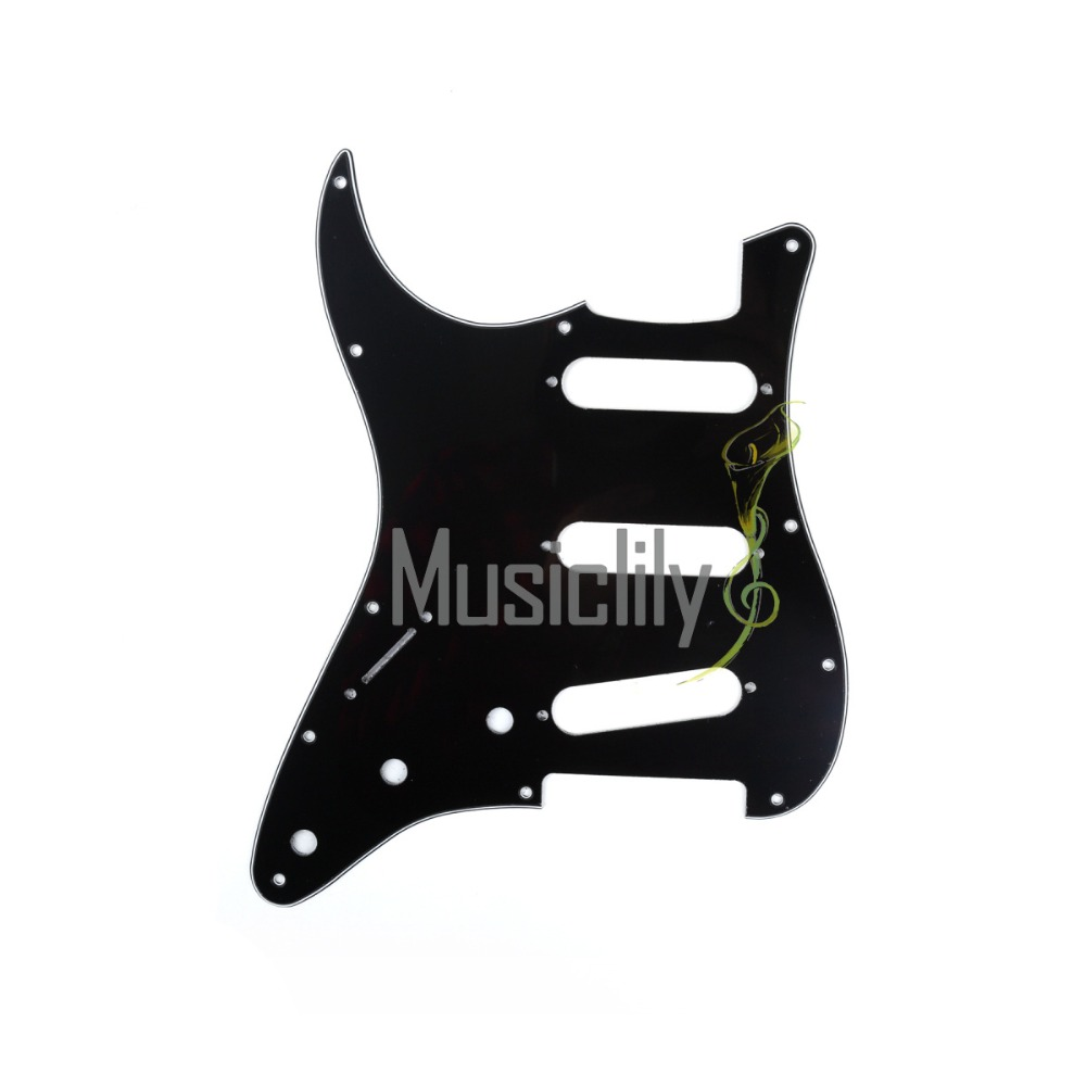 Musiclily 3Ply/4Ply Left Handed Pickguard Pick Guards Scratch Plate for Fender Stratocaster Strat ST Style Guitar Parts musiclily 3ply pvc outline pickguard for fenderstrat st guitar custom