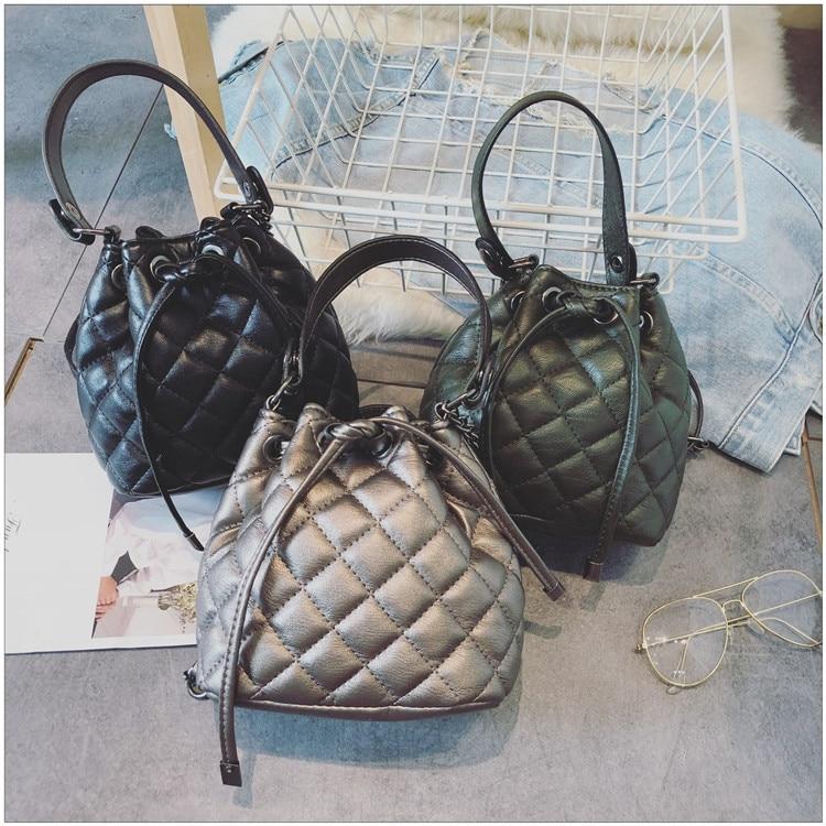 2018 mode petites femmes sac seau sac à main cordon sac à bandoulière Messenger sacs à bandoulière