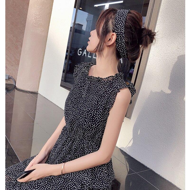 Mishow Chiffon Polka Dot Dress Women Summer Midi bandage Dress Casual Sundress Women Boho Beach Dress MX18B1178
