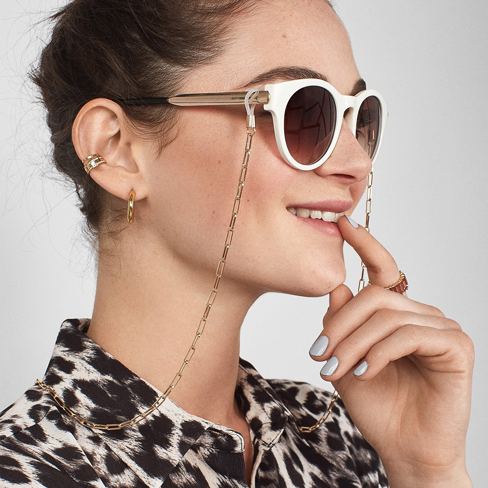 Fashion Womens Gold Eyeglass Chains Sunglasses Spectacles Reading Vintage Chain Holder Cord Lanyard Necklace Eyewear Accessories