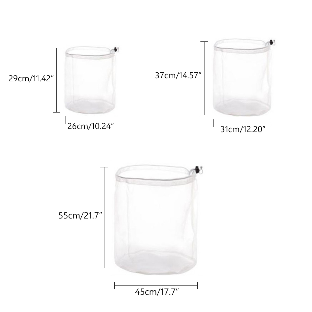 Image 2 - S M L Size Washing Laundry bag Socks Underwear Washing Machine ClothesClothing Care Foldable Net Filter Underwear Bra Protection-in Laundry Bags & Baskets from Home & Garden