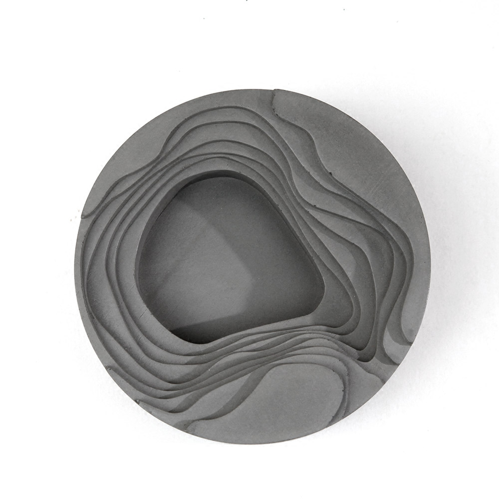 Cement concrete geometry high end gifts silicone mold Art ashtray dish office