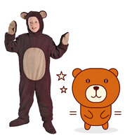 Halloween Adult kids Boy animals cute bear Cosplay Costumes clothes Stage Amphibian costume child Animal cute bear Jumpsuits