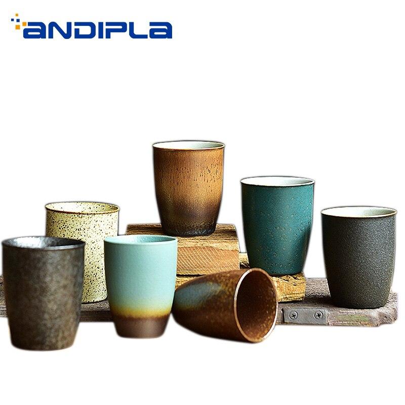 Caneca do Vintage Xícara de Cerâmica Xícara de Chá Copos de Café 90 Ml e 150 ml Artesanal Espresso Master Água Canecas Drinkware Teaware Recipiente
