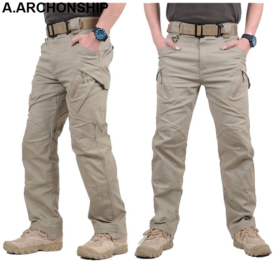 2017 IX9 II Miehet Militar Tactical Housut Taisteluhousut SWAT Army Military Housut Mens Cargo Outdoors Pants Rento Puuvillahousut