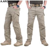 2019 IX9 II Men Militar Tactical Pants Combat Trousers SWAT Army Military Pants Mens Cargo Outdoors Pants Casual Cotton Trousers