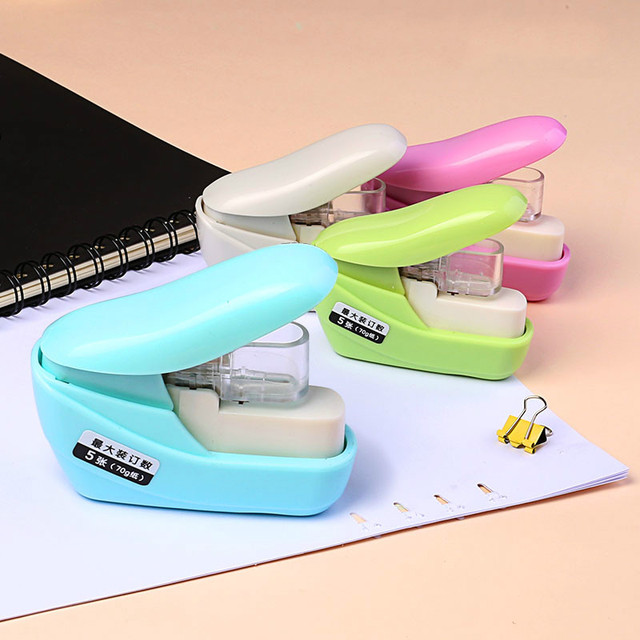 No Nails No Staples Stapling Machine Mini Cute Book Stapleless Stapler