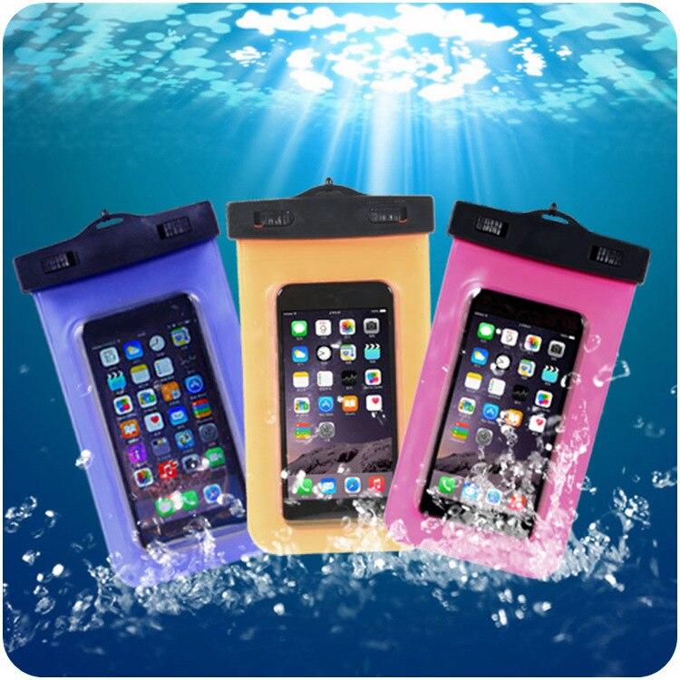 100% bolso impermeable sellado case bolsa del teléfono casos para iphone 6/6 s 7