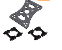 3K Carbon 2212 5208 Motor Mount Support Plate Pair 16 22 25mm Tube Clip Plane Axis