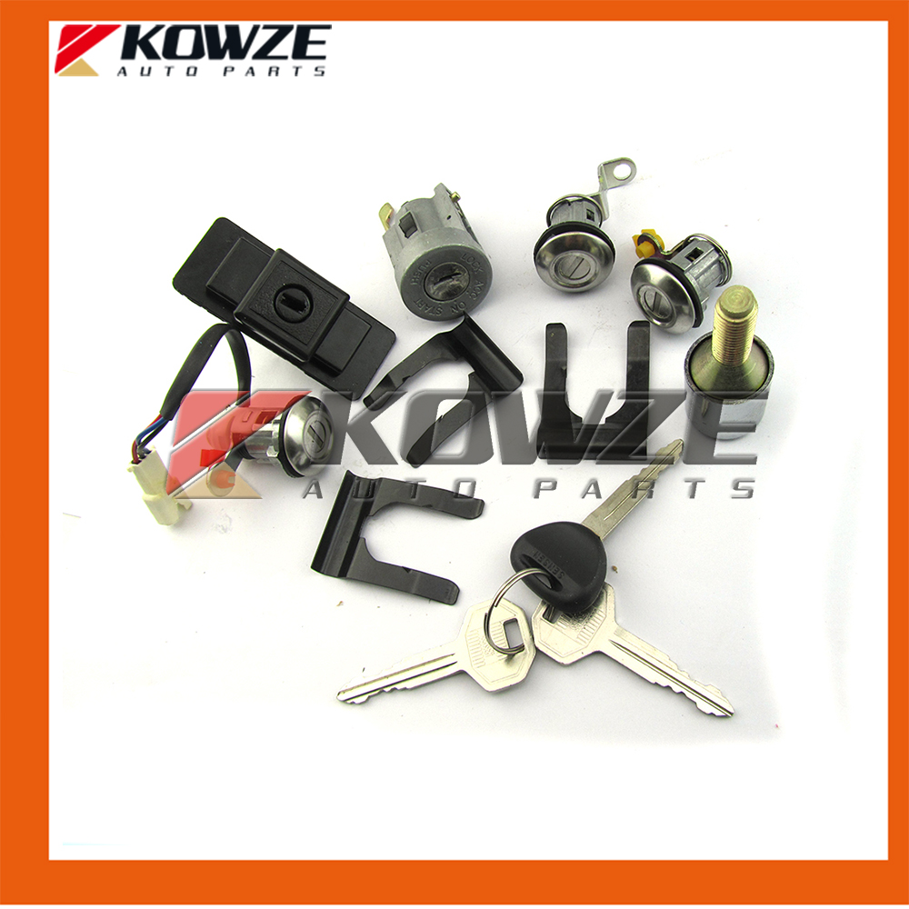 Fashion Style Lock Cylinder & Key Set For Pajero Montero Ii 2nd 1990-2004 4g54 4g64 4m40 6g72 Mr259744 Auto Replacement Parts