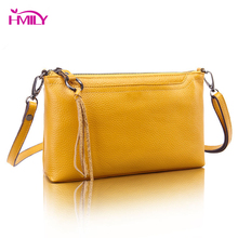 HMILY Genuine Leather Women Bag Fashion Mini Female Messenger Bags Real Cowskin Ladies Brands Shoulder Bag Ten Color Daily Bag цены онлайн