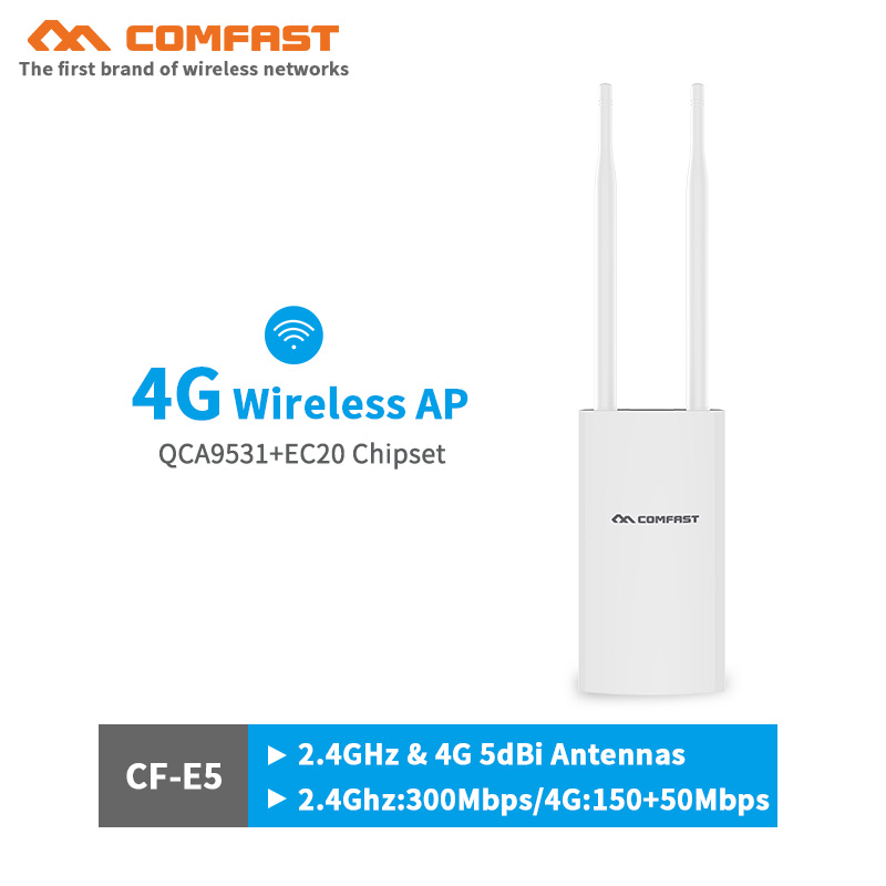 comfast 4G high speed wireless AP Wifi Router with External 5dbi Antenna support 4g SIM card to access the internet LTE FDD GSMcomfast 4G high speed wireless AP Wifi Router with External 5dbi Antenna support 4g SIM card to access the internet LTE FDD GSM