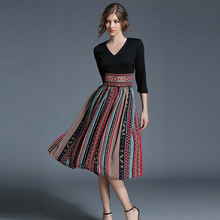 2017 women Summer Vintage Bohemian Chiffon print dress female Patchwork office dresses beach casual Holiday long dress
