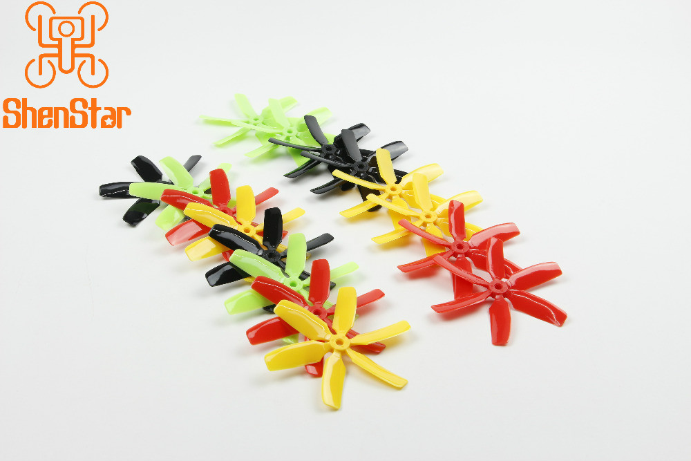 8 Pairs MINI Quadcopter Multi-color 6-leaf Paddles 4x4x6 CW Propeller CCW Propellers 4 Inch Props Y19062