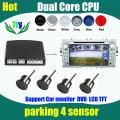 Auto Reversing Detector connect any LCD Monitor or DVD and Step-up Alarm Video car Parking Sensor Reverse Backup Radar System
