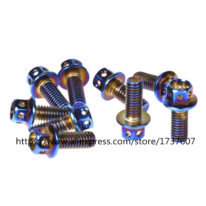 6pcs/lot 304 stainless steel Motorcycle screws M6*10/13/1520/30/45mm screw Motorcycle accessories M6 Motorcycle bolts