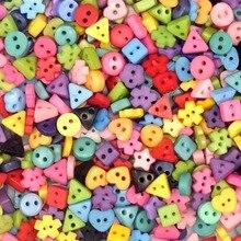 Suoja 100/300 шт./лот крошечные пуговицы разных цветов 6 мм из смолы с 2 отверстиями для шитья