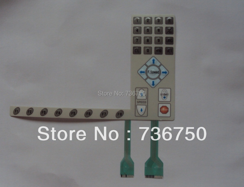 01 003A OT10 Control Panel Keyboard Keypad Membrane Switch SWF embroidery machine spare parts 01003AOT10 offered